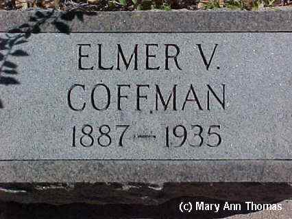 COFFMAN, ELMER V. - Fremont County, Colorado | ELMER V. COFFMAN - Colorado Gravestone Photos