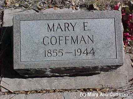 COFFMAN, MARY E. - Fremont County, Colorado | MARY E. COFFMAN - Colorado Gravestone Photos