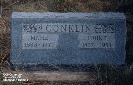 CONKLIN, MATIE - Fremont County, Colorado | MATIE CONKLIN - Colorado Gravestone Photos