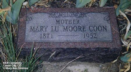 COON, MARY LU MOORE - Fremont County, Colorado | MARY LU MOORE COON - Colorado Gravestone Photos