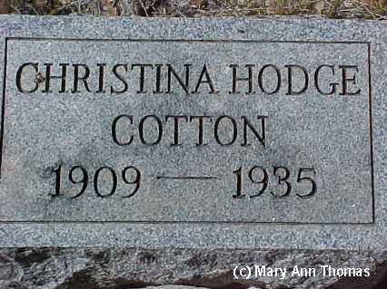 HODGE COTTON, CHRISTINA - Fremont County, Colorado | CHRISTINA HODGE COTTON - Colorado Gravestone Photos