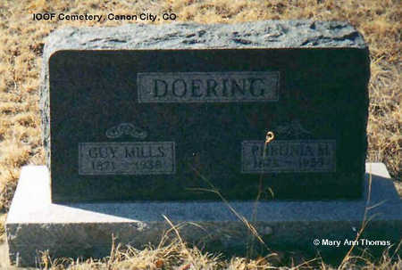 DOERING, GUY MILLS - Fremont County, Colorado | GUY MILLS DOERING - Colorado Gravestone Photos