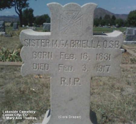 DRAPER, CORA - Fremont County, Colorado | CORA DRAPER - Colorado Gravestone Photos