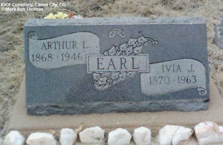 EARL, IVA J. - Fremont County, Colorado | IVA J. EARL - Colorado Gravestone Photos