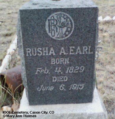 EARL, RUSHA A. - Fremont County, Colorado | RUSHA A. EARL - Colorado Gravestone Photos