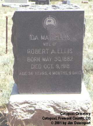 ELLIS, IDA MAY - Fremont County, Colorado | IDA MAY ELLIS - Colorado Gravestone Photos
