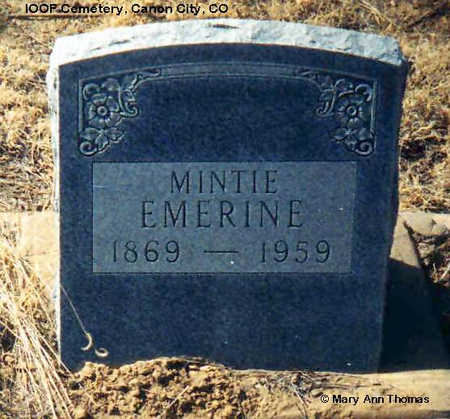 EMERINE, MINTIE - Fremont County, Colorado | MINTIE EMERINE - Colorado Gravestone Photos