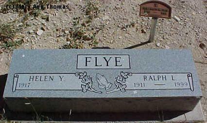 FLYE, HELEN Y. - Fremont County, Colorado | HELEN Y. FLYE - Colorado Gravestone Photos