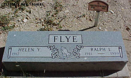 FLYE, RALPH L. - Fremont County, Colorado | RALPH L. FLYE - Colorado Gravestone Photos