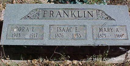 FRANKLIN, MARY A. - Fremont County, Colorado | MARY A. FRANKLIN - Colorado Gravestone Photos