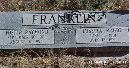 FRANKLIN, FOSTER RAYMOND - Fremont County, Colorado | FOSTER RAYMOND FRANKLIN - Colorado Gravestone Photos