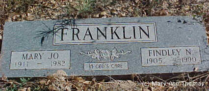 FRANKLIN, MARY JO - Fremont County, Colorado | MARY JO FRANKLIN - Colorado Gravestone Photos