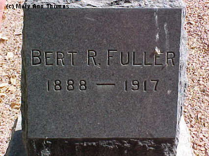 FULLER, BERT R. - Fremont County, Colorado | BERT R. FULLER - Colorado Gravestone Photos