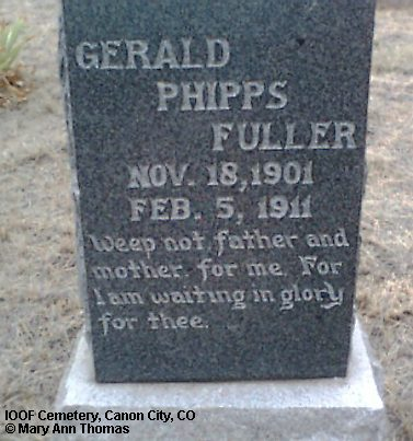 FULLER, GERALD PHIPPS - Fremont County, Colorado | GERALD PHIPPS FULLER - Colorado Gravestone Photos