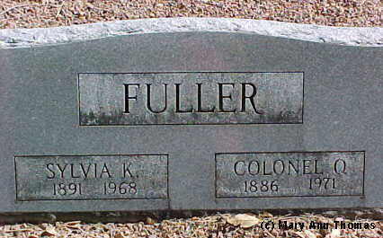 FULLER, SYLVIA K. - Fremont County, Colorado | SYLVIA K. FULLER - Colorado Gravestone Photos