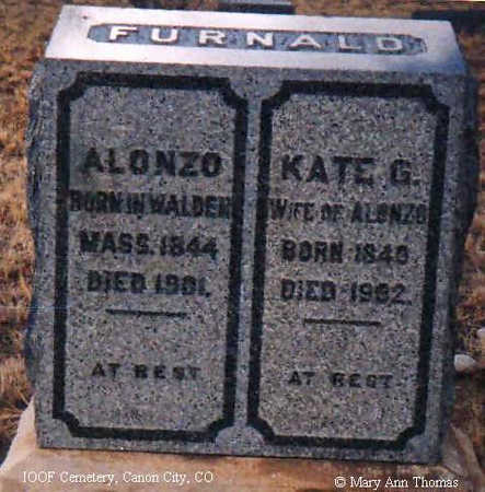 FURNALD, KATE G. - Fremont County, Colorado | KATE G. FURNALD - Colorado Gravestone Photos