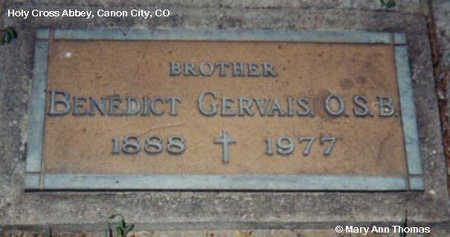 GERVAIS, BENEDICT - Fremont County, Colorado | BENEDICT GERVAIS - Colorado Gravestone Photos
