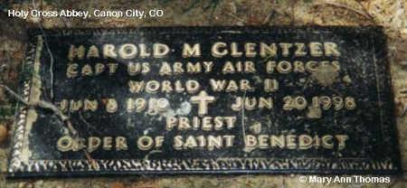 GLENTZER, HAROLD M. - Fremont County, Colorado   HAROLD M. GLENTZER - Colorado Gravestone Photos