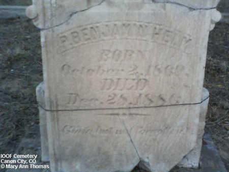 HELM, P. BENJAMIN - Fremont County, Colorado | P. BENJAMIN HELM - Colorado Gravestone Photos