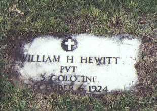 HEWITT, WILLIAM H. - Fremont County, Colorado | WILLIAM H. HEWITT - Colorado Gravestone Photos