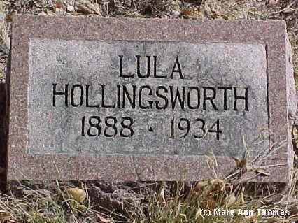 HOLLINGSWORTH, LULA - Fremont County, Colorado | LULA HOLLINGSWORTH - Colorado Gravestone Photos
