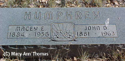 HUMPHREY, MACY E. - Fremont County, Colorado | MACY E. HUMPHREY - Colorado Gravestone Photos
