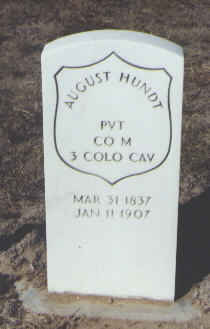 HUNDT, AUGUST - Fremont County, Colorado | AUGUST HUNDT - Colorado Gravestone Photos
