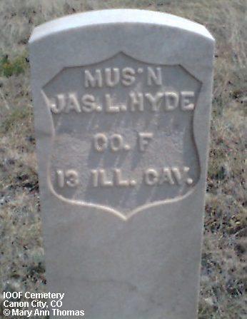 HYDE, JAS. L. - Fremont County, Colorado | JAS. L. HYDE - Colorado Gravestone Photos
