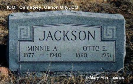 JACKSON, OTTO E. - Fremont County, Colorado | OTTO E. JACKSON - Colorado Gravestone Photos