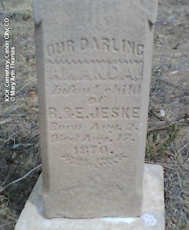 JESKE, AMANDA - Fremont County, Colorado | AMANDA JESKE - Colorado Gravestone Photos
