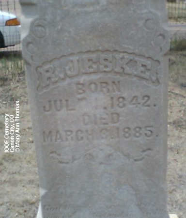 JESKE, R. - Fremont County, Colorado | R. JESKE - Colorado Gravestone Photos
