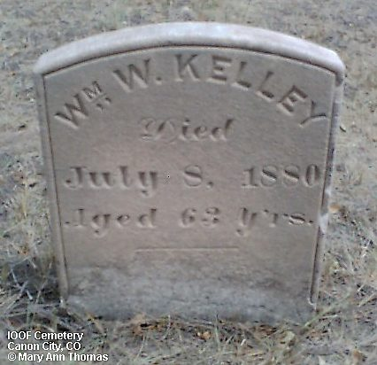 KELLEY, WM. W. - Fremont County, Colorado | WM. W. KELLEY - Colorado Gravestone Photos