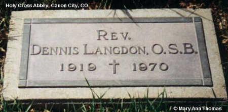 LANGDON, DENNIS - Fremont County, Colorado   DENNIS LANGDON - Colorado Gravestone Photos