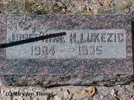 LUKEZIC, JOSEPHINE H. - Fremont County, Colorado | JOSEPHINE H. LUKEZIC - Colorado Gravestone Photos