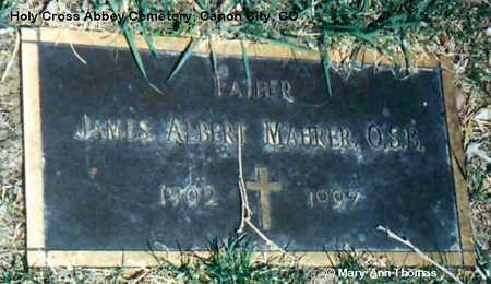 MAHRER, JAMES ALBERT - Fremont County, Colorado | JAMES ALBERT MAHRER - Colorado Gravestone Photos