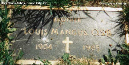 MANGUS, LOUIS - Fremont County, Colorado | LOUIS MANGUS - Colorado Gravestone Photos