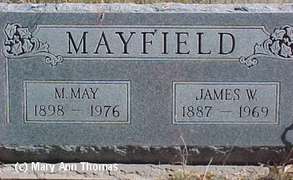 MAYFIELD, JAMES W. - Fremont County, Colorado | JAMES W. MAYFIELD - Colorado Gravestone Photos
