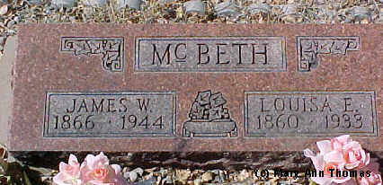 MCBETH, JAMES W. - Fremont County, Colorado | JAMES W. MCBETH - Colorado Gravestone Photos