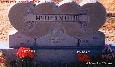 MCDERMOTT, FRED - Fremont County, Colorado | FRED MCDERMOTT - Colorado Gravestone Photos