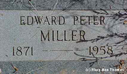 MILLER, EDWARD PETER - Fremont County, Colorado | EDWARD PETER MILLER - Colorado Gravestone Photos
