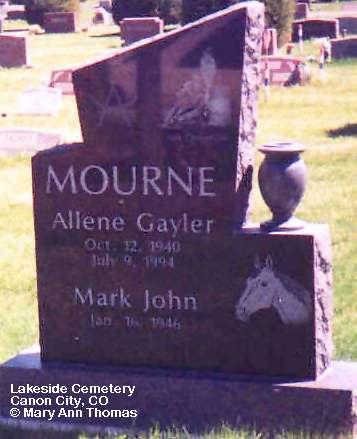 GAYLOR MOURNE, ALLENE - Fremont County, Colorado | ALLENE GAYLOR MOURNE - Colorado Gravestone Photos