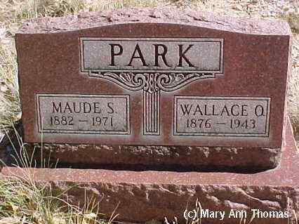 PARK, WALLACE O. - Fremont County, Colorado | WALLACE O. PARK - Colorado Gravestone Photos
