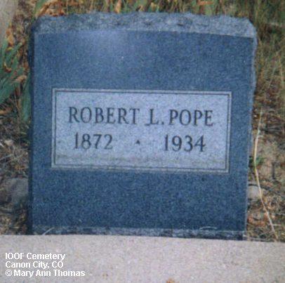 POPE, ROBERT L. - Fremont County, Colorado   ROBERT L. POPE - Colorado Gravestone Photos