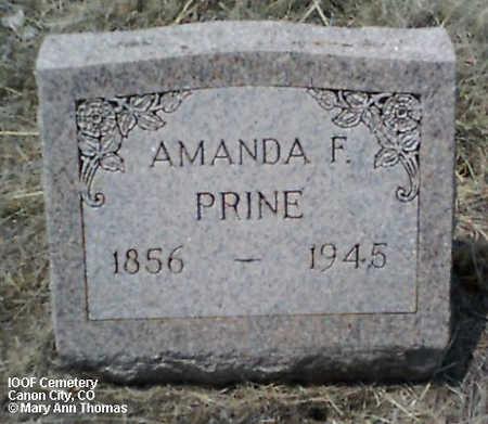 PRINE, AMANDA F. - Fremont County, Colorado | AMANDA F. PRINE - Colorado Gravestone Photos