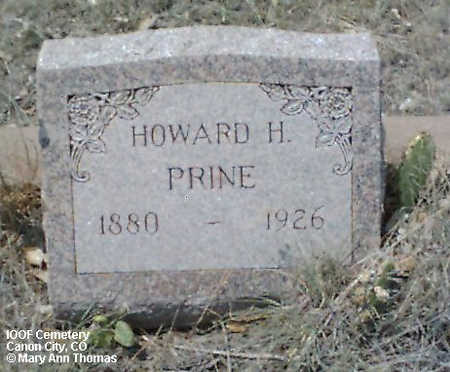 PRINE, HOWARD H. - Fremont County, Colorado | HOWARD H. PRINE - Colorado Gravestone Photos