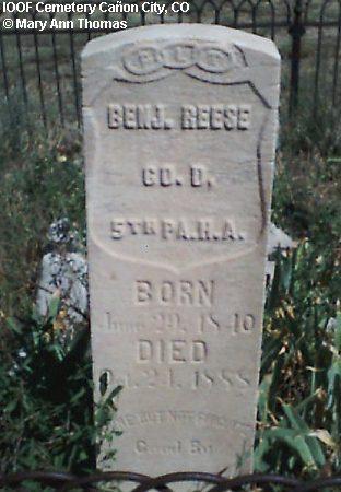 REESE, BENJAMIN - Fremont County, Colorado | BENJAMIN REESE - Colorado Gravestone Photos