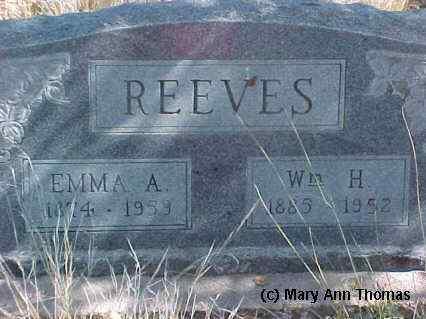 REEVES, EMMA A. - Fremont County, Colorado | EMMA A. REEVES - Colorado Gravestone Photos