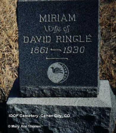 RINGLE, MIRIAM - Fremont County, Colorado | MIRIAM RINGLE - Colorado Gravestone Photos