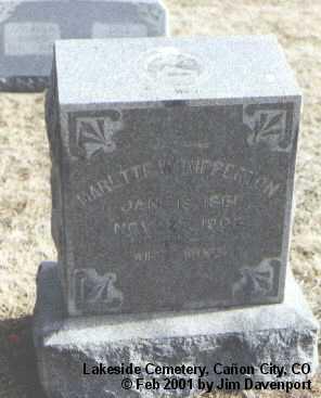 RIPPERTON, MARETTE W. - Fremont County, Colorado | MARETTE W. RIPPERTON - Colorado Gravestone Photos