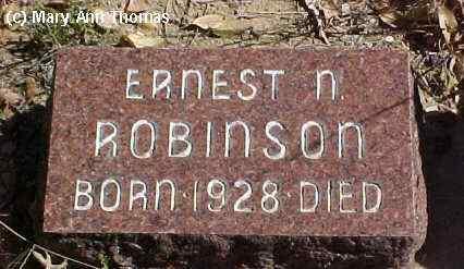 ROBINSON, ERNEST N. - Fremont County, Colorado   ERNEST N. ROBINSON - Colorado Gravestone Photos